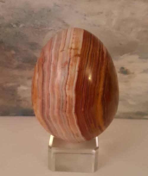 The Tachyon Banded Agate Egg Stone, 8/9 cm - Bild vergrößern