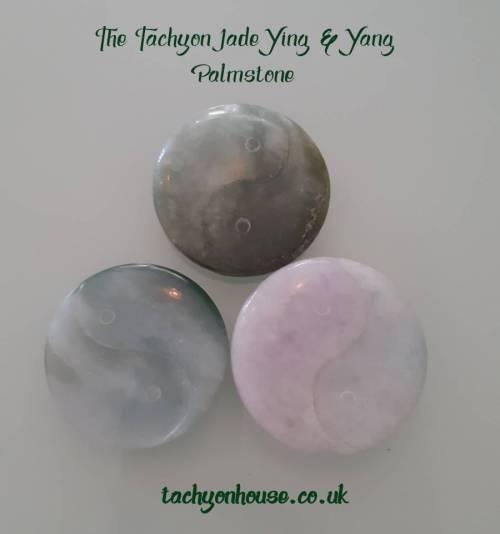 Tachyon Jade Ying & Yang Palmstone - Bild vergrößern