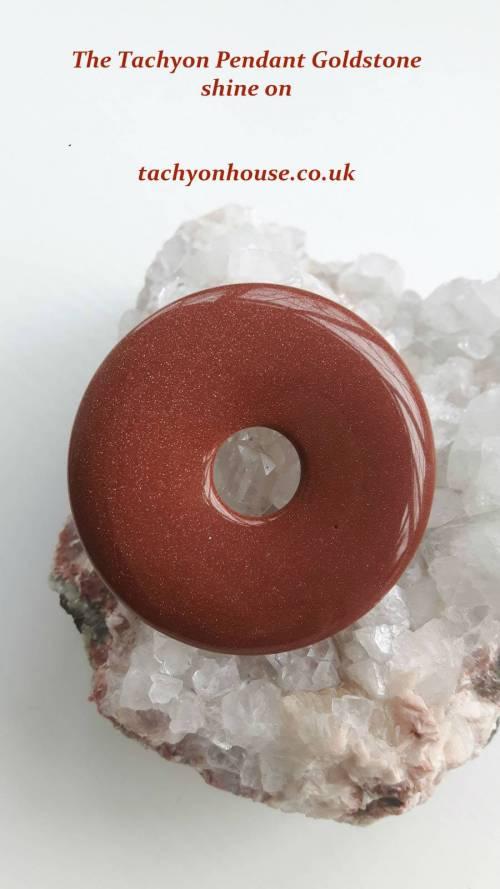Tachyon Pendant Goldstone, 50 mm - Bild vergrößern