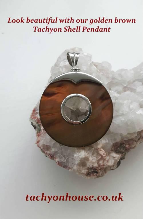 Tachyon Shell Pendant, golden brown 50 - 65 mm - Bild vergrößern