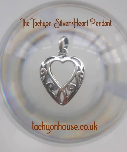 Tachyon 925 Silver Heart Pendant - Bild vergrößern