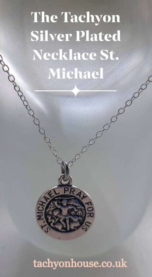Tachyon Silver Plated Necklace St. Michael - Bild vergrößern
