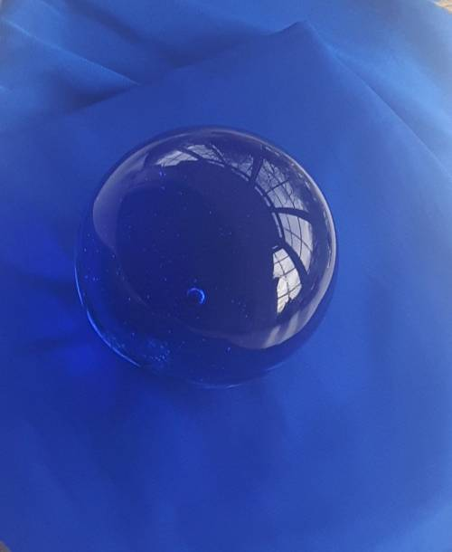 Tachyon Glass Energy Sphere, 8 cm, ocean blue - Bild vergrößern