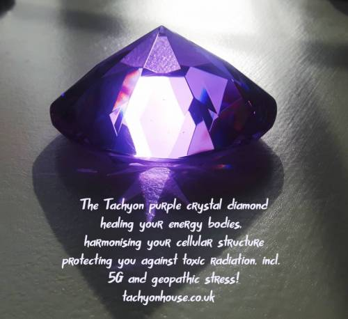 Tachyon Crystal Diamond 100 mm purple - Bild vergrößern