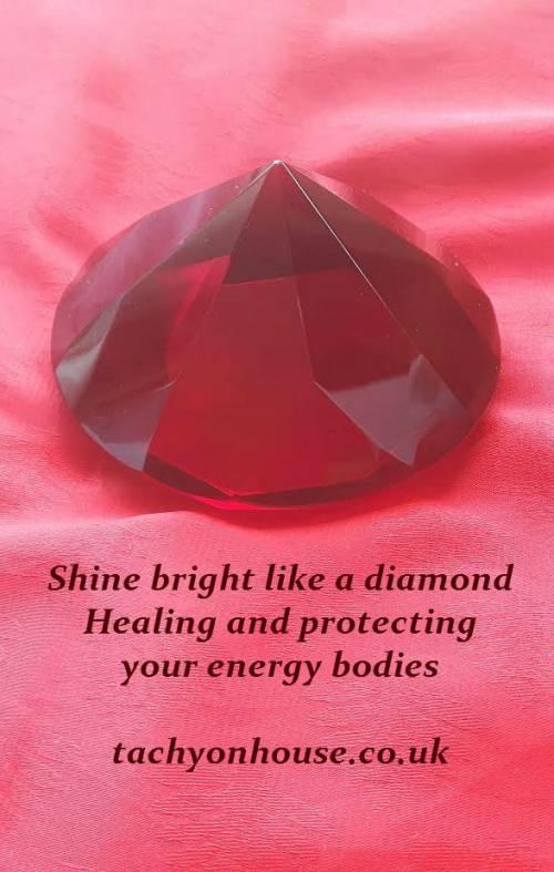 Tachyon Crystal Diamond 80 mm red - Bild vergrößern