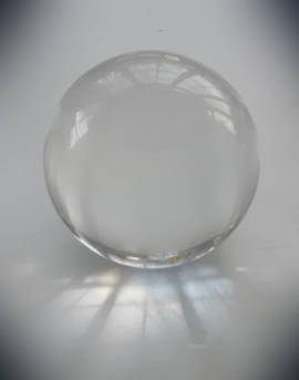 Tachyon Glass Sphere clear, 80 mm
