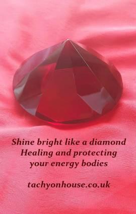Tachyon Crystal Diamond 80 mm red