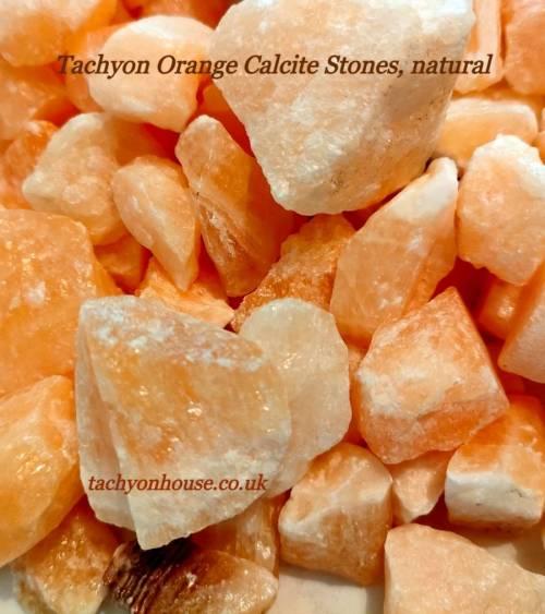 Tachyon Orange Calcite Stones, natural, bulk - Bild vergrößern