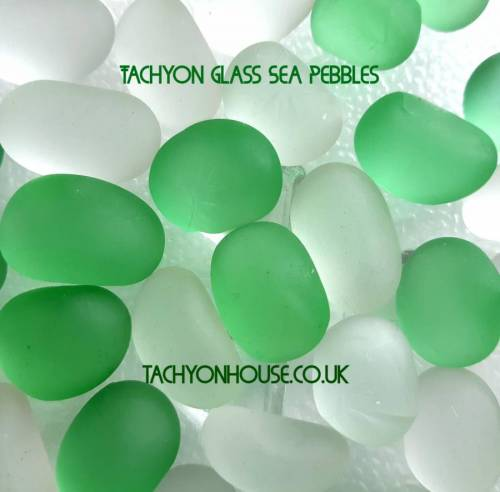 Tachyon Glass Sea Pebbles (4) green/clear - Bild vergrößern